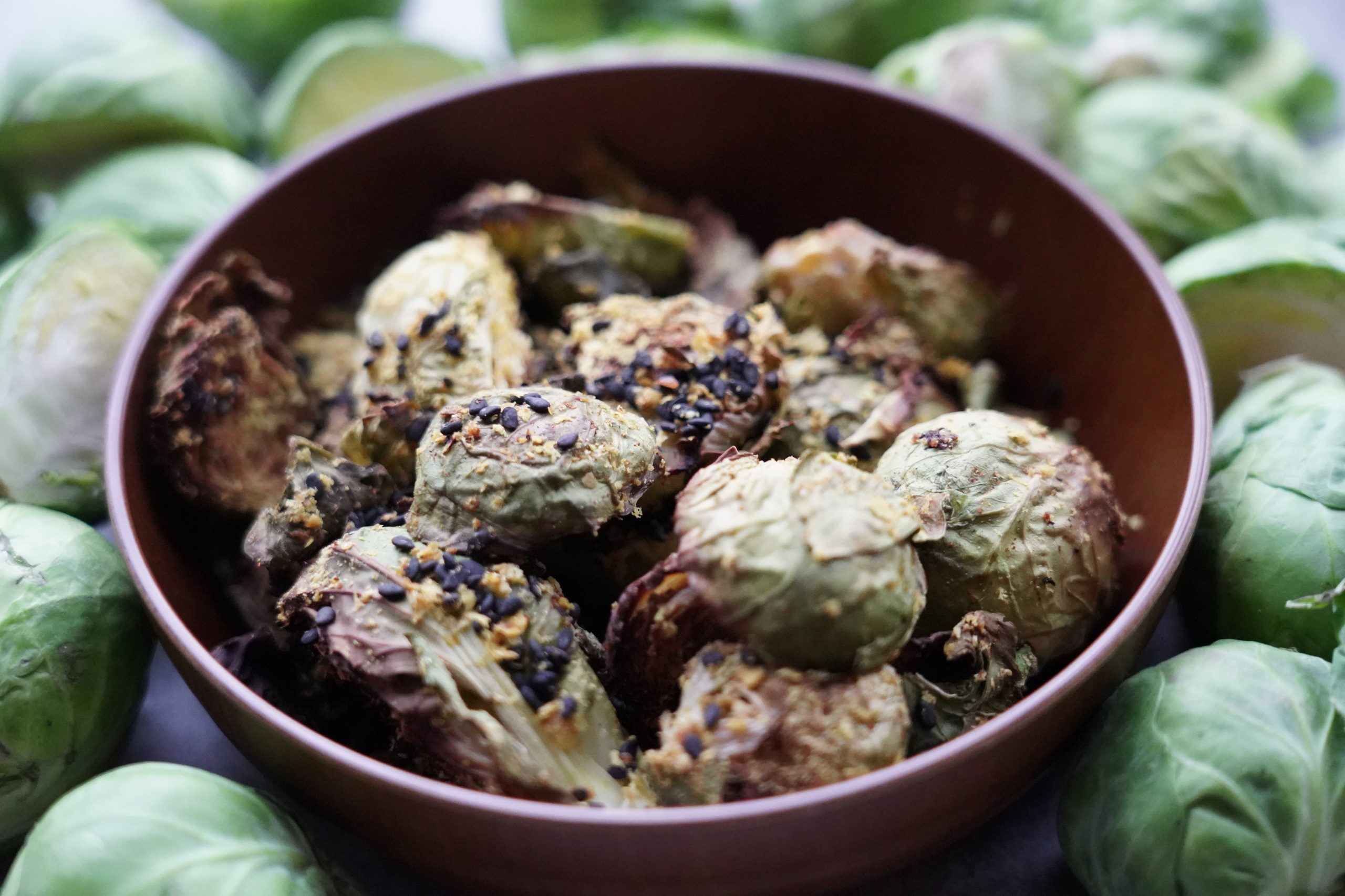 easy no oil brussel sprouts